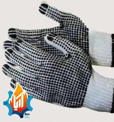 دستکش بافتنی خالدار چینی