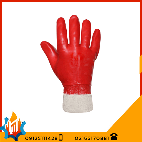 دستکش ایمنی ضد اسید مچ کش دار پوشا