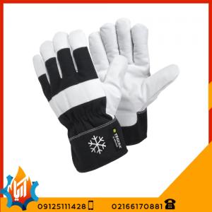 دستکش ایمنی کف چرم آستر زمستانی