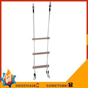 نردبان طنابی پایه چوبی